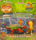 DINOSAUR TRAIN ITEM - HANK & X-RAY SPIKEY - HARD PLASTIC TWO FIGURE SET