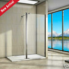 Walk In Wet Room Shower Screen Enclosure Glass Panel Stone Tray Flipper Panel