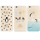 Penguin Transparent Soft TPU Case Cover For iPhone 6s 6s Plus SE 5s 5
