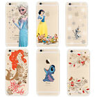 Disney Cartoon Transparent Soft TPU Case Cover For iPhone 6s 6s