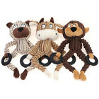 """Pet Puppy Squeaky Plush Dog Tug Toy Animal Family with Spring Rope 9.6"""" Chiwava"""