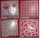 STENCIL SET OF FOUR PLEASANTVILLE SERIES BUY ONE OF SET OF FOUR GREAT FUN