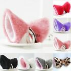 New Cosplay Party Cat Fox Long Fur Ears Anime Neko Hair Clip Orecchiette TXWD