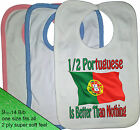 1/2 HALF Portuguese is better than nothing BIB Portugal nationality flag