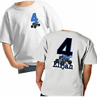 ATV QUAD BIG NUMBER 2 SIDED BIRTHDAY SHIRT PERSONALIZED NAME AGE