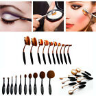 10P Black/Gold Toothbrush Shaped Foundation Power Makeup Oval Cream Puff Brushes