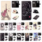 1x For iPhone Samsung 3D Embossed Design Synthetic Leather Case Card Stand Cover