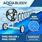 $242.1 Solar Swimming Pool Cover Roller 400 Micron Outdoor Bubble Blanket