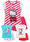 Girls Official Hello Kitty PJ Set New Kids Short Sleeved Pyjama Set 4 6 8 10 Yrs