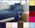 Plain Dye Bed Sheets Fitted Flat Sheet Polycotton Bedding Pillowcase Non Iron