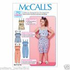 McCall's 7376 Easy Sewing Pattern to MAKE Rompers & Playsuits Beginner Tips