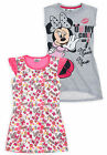 Girls Disney Minnie Mouse Nightdress New Kids Short Sleeved Nightwear 4-10 Yrs