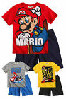Boys Short Sleeved Super Mario Pyjamas New Kids Nintendo Mario Bros PJs 4-10 Yrs