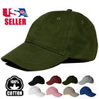 NEW Plain Solid Washed Cotton Polo Baseball Ball Cap Hat Blank Adjustable Clasp