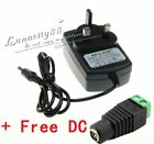 DC 12V 1A 2A UK Power Supply Adapter Transformer Driver for LED Strip Light