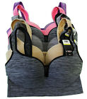Holiday Pack Lot 1 3 6 Wire Free Seamless Nylon Push Up Sports BRA AA/A/B/C