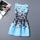 1pc Causal Print Sleeveless Mini Short Dress Women's Summer Tutu Dress Hot
