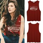 Women's Sleeveless Blouse Tank Tops T-Shirt Camisole Letter Summer Fashion Vest