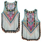 Sexy Women Summer Sleeveless Printed Boho Vest Casual Tank Tops Tee Shirt Blouse
