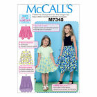 McCall's 7345 Easy Sewing Pattern to MAKE Girls' Skirts - Lots of Variations