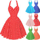 Retro Vintage 50s Polka Dots Swing Pin Up Party Cocktail Dresses Homecoming Ball