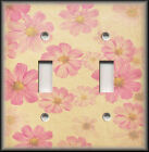 Light Switch Plate Cover - Pink And Yellow Cream Flowers - Floral Home Decor