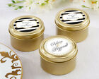 600 Personalized Classic Wedding Theme Round Gold Candy T...