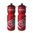 2 x ZEFAL PREMIER 75 ROAD MTB BIKE CYCLING WATER BOTTLE - 750ml - Red