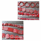 Mother of Pearl Shell Salmon Color Beads Coin Beads Rectangle Spacer Beads