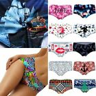 Women Elastic Soft 3D Print V-string Briefs Underpant Panties Thong Underwear