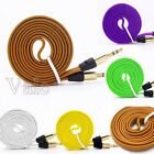 1M Strong Braided 3.5mm Male to Male Car Aux Audio Cable For iPhone Cellphone
