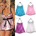 Sexy Women lady  V-Neck Backless Babydoll Lingerie Dress G-string Sleepwear DZ88