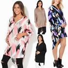 Maternity Womens Oversize V Neck Top Long Sleeve Pregnancy T Shirt Tunic Dress