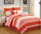 12 Piece Preston Red and Pink Bed in a Bag w/500TC Cotton Sheet Set