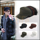 Classic Plain Adjustable beus Vintage Army Military Cadet Style Cotton Hat Cap