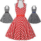 Women 50s Vintage Floral Swing Prom Party Cocktail Dress Short Evening Housewife