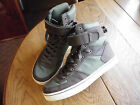 Mens sz 10.5 RadII green brown leather canvas hi top athletic shoes