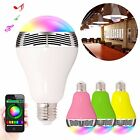 E27 Wireless Bluetooth v4.0 Music Speaker RGB Color Smart LED Bulb Timing Light