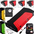 2USB 58800mAh Car Jump Starter Booster Charger Power bank Battery+Air compressor