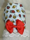 DOG CAT FERRET Travel Harness~Critters Bumble Bees Lady Bugs Galore BOW & LACE