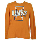 NCAA Illinois Fighting Illini Mens Thermal Pullover Shirt Long Sleeve Crew Neck