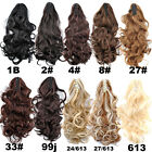 24'' 150g Women Long Curly Wavy Cosplay Claw Clip in Hair Extensions Ponytail