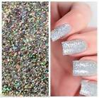 20g Bag Holographic Diamond Silver Mermaid Glitter - Fine Nail Art Gel Acrylic