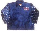 USA American Stars and Stripes Patriotic Freedom Flag Plush Fleece Jacket NEW