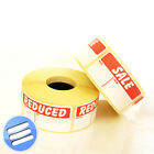 Self Adhesive Sale-was-now/ Reduced-from-to Pricing Retail Sticker Label/ Labels