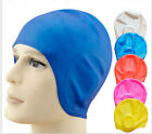 Silicon Swimming Long Hair Cap Hat Bathing Cap With Ear Cup Waterproof CA147-151