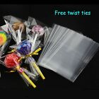 "4"" x 6"" Clear Cello Display Bags Lollipops Sweets Cake Pops Chocolate Cellophane"