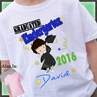 Boy Graduated Kindergarten Shirt Personalized Name Year Grad Shirt