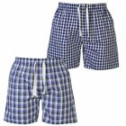 Lee Cooper Mens Lounge Shorts 2 Pack Elastic Cotton Pyjamas Sleeping Bottoms