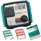 Kewtech KT72 PAT Tester + Free Pass & Fail Labels & Log Book